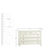 Vintage Short Chest of Drawers in White Colour by Asian Arts