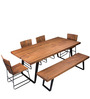 Tiber Six Seater Dining Set in Premium Acacia Finish by Woodsworth