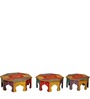 Ranjana - Painted Set Of Tables by Mudramark