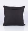 Vista Home Fashion Black Cotton 18 x 18 Inch Cushion Cover