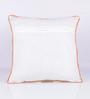 Vista Home Fashion Orange Cotton 18 x 18 Inch Indian Cushion Cover