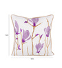 Vista Home Fashion Purple Cotton 16 x 16 Inch Indian Cushion Cover