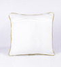 Vista Home Fashion Yellow Cotton 18 x 18 Inch Cushion Cover