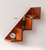 Vitoria Contemporary Wall Shelf in Brown by CasaCraft