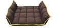 Voltaic Sofa cum Bed in Dark Brown Colour by HomeTown