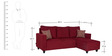 Walden Left Handed Three Seater Lounger in Maroon Colour by Urban Living