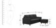 Walton 3 Seater Sofa + Ottoman in Black Colour by Furny