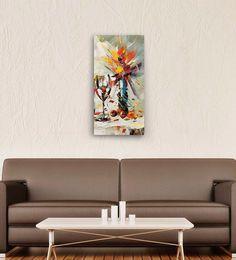 Wall Skin Canvas 12 X 24 Inch Wine Glass & Cherries On The Table Framed Digital Art Print