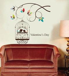 WallTola Wall Stickers Valentine's Day Love Birds
