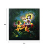 Wall Skin Canvas 18 x 18 Inch The Essence Of Radha Krishna Framed Digital Art Print