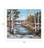 Wall Skin Canvas 18 x 18 Inch The Siberian Spring River Framed Digital Art Print