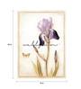 Wall Skin Canvas 18 x 24 Inch The Purple Flower Framed Digital Art Print