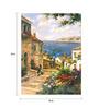 Wall Skin Canvas 18 x 24 Inch The Scenic Sea Town Framed Digital Art Print