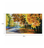 Wall Skin Canvas 24 x 12 Inch A Beautiful Day In The Park Framed Digital Art Print