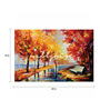 Wall Skin Canvas 24 x 18 Inch A Beautiful Autumn Day Framed Digital Art Print
