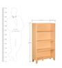 Storage Shelf in Light Ash Finish by Heveapac