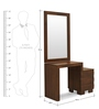 Waves Dresser Mirror with Walnut Finish by @home