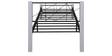Web Wrought Iron Single Bed in White Colour by Evok