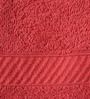 Welhome Red Cotton Towel - Set of 4