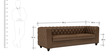 William Three Seater Sofa in Chester Brown Colour by ARRA