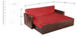 Winchester Sofa Cum Bed in Red Colour by Auspicious