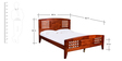 Windsor Queen Bed in Light Oak Colour by HomeTown