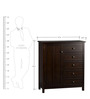 William Chiffrobe Chest of Drawers in Coffee Brown colour by Asian Arts