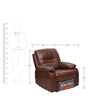 Wilson One Seater Sofa with Rocker Recliner by @home