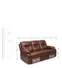 Wilson Three Seater Sofa with Rocker Recliner in Caramel Colour by @home