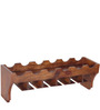 Tulsa Wine Bottle and Glass Holder in Provincial Teak Finish by Woodsworth