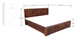 Woodrow Queen Bed with Storage in Honey Colour by HomeTown