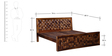 Woodway King Size Bed in Provincial Teak Finish by Woodsworth