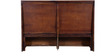 Woodway Queen Bed with Storage in Provincial Teak Finish by Woodsworth