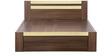 Woody Queen Bed with Box Storage in Dark Acacia & Maple Matt Finish by Debono