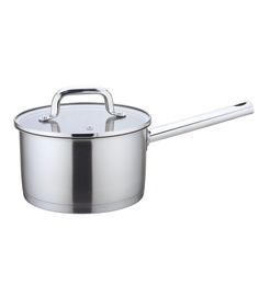 Wonderchef Inox Sauce Pan with Glass Lid 18cm by Chef Sanjeev Kapoor