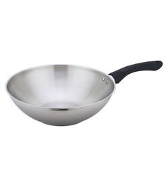 Wonderchef Inox Stainless Steel Wok 28cm by Chef Sanjeev Kapoor