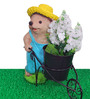 Wonderland Hedgehog Pushing Cart Planter