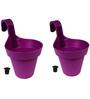 Wonderland Set of 2 : Railing Buckets in Purple