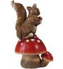 Wonderland Squirrel Sitting on Mushroom