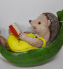 Wonderland the Hedgehog on Hammock Reading Book Hanging Dcor
