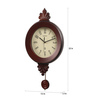 Wood Craft Brown Glass & MDF 11.8 x 1.5 x 22.4 Inch Wall Clock
