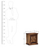 Woodway Left Door  Bed Side Table in Provincial Teak Finish by Woodsworth