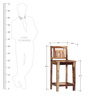 Woodway Bar Chair in Provincial Teak Finish by Woodsworth