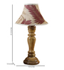 Woody Lamp House Beige Poly Silk Table Lamp