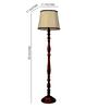 Woody Lamp House Khadi Poly Cotton Floor Lamp