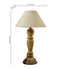 Woody Lamp House Khadi Poly Cotton Table Lamp