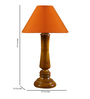 Woody Lamp House Orange Poly Cotton Table Lamp