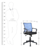 Workstation Ergonomic Chair in Blue Colour by Parin