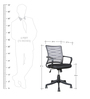 Workstation Ergonomic Chair in Grey Colour by Parin