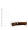 Wyoming Entertainment Unit in Provincial Teak Finish by Woodsworth
